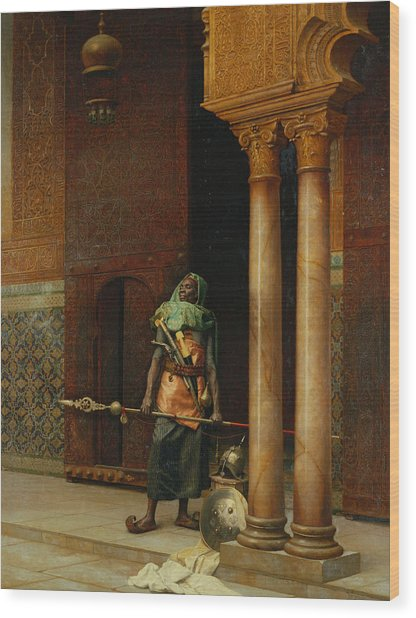 The Harem Guard  Wood Print