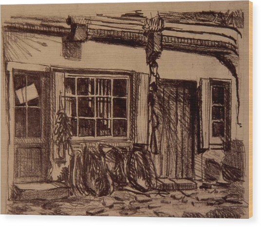 The Harness Shop Wood Print by Chris  Riley
