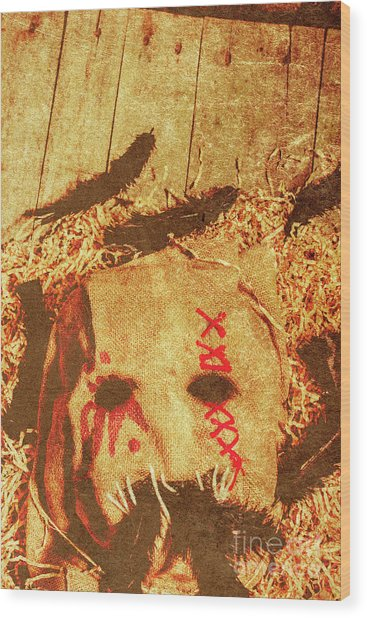 The Harvester Wood Print