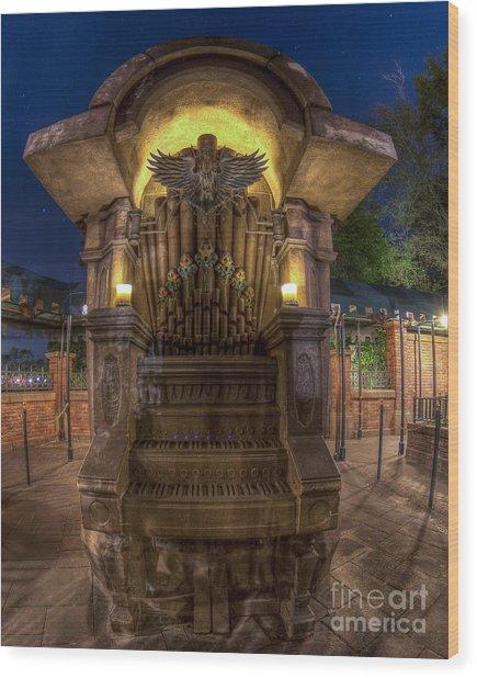 The Haunted Organ Wood Print