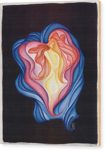 The Healer Wood Print