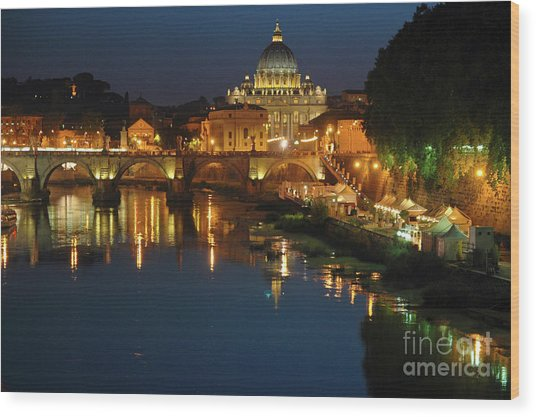 Eternal Sound Of Rome Wood Print
