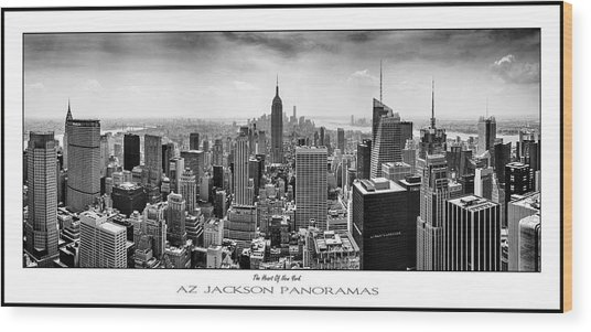 The Heart Of New York Poster Print Wood Print