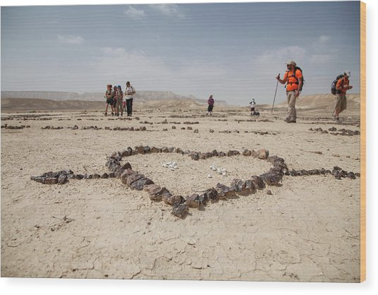 The Heart Of The Desert Wood Print
