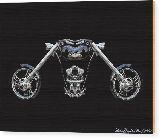 The Heart Of The Harley Wood Print by Wayne Bonney
