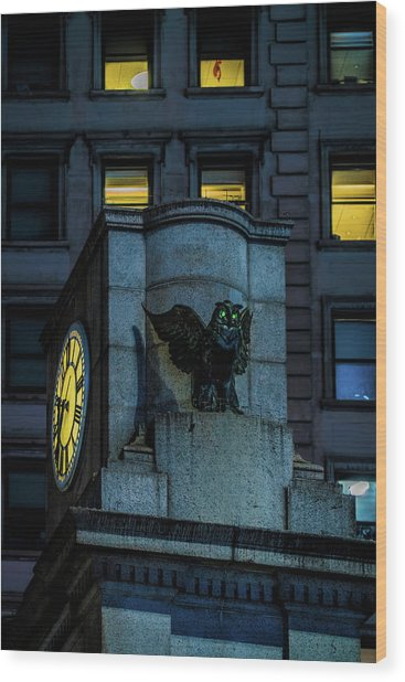 The Herald Square Owl Wood Print