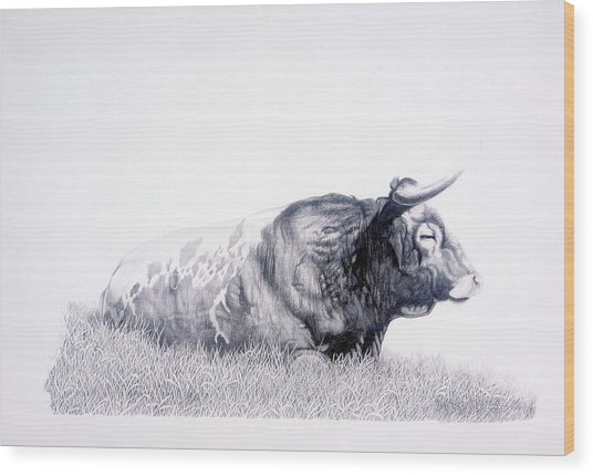 The Herdmaster Wood Print by Howard Dubois