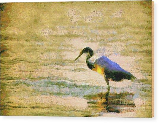 The Herons Wood Print