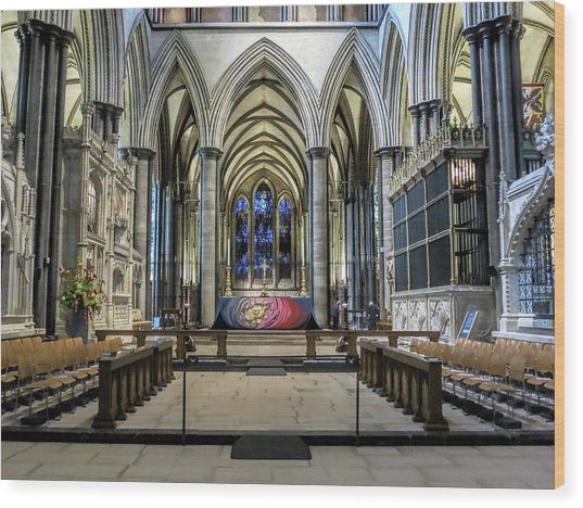 The High Altar In Salisbury Cathedral Wood Print