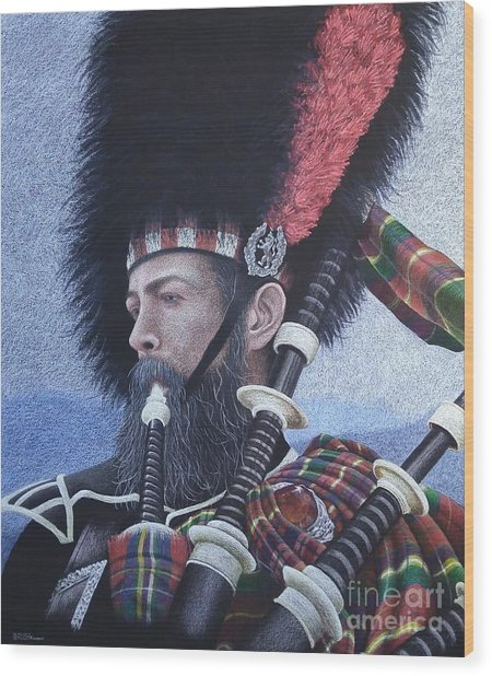 The Highlander Wood Print