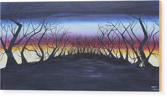 The Hill Wood Print by Tammy Dunn