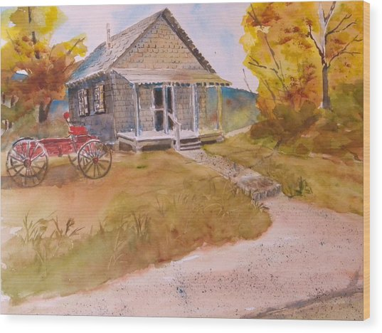 The Home Place Wood Print by Kris Dixon