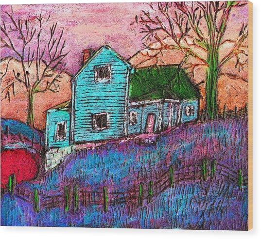 The Homestead I Wood Print