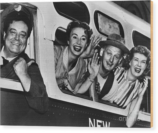 The Honeymooners, C1955 Wood Print