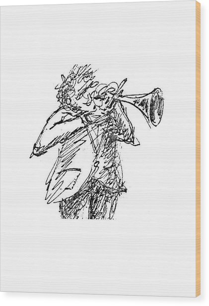 The Hornblower Wood Print by Sam Chinkes