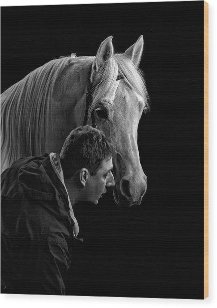 The Horse Whisperer Extraordinaire Wood Print