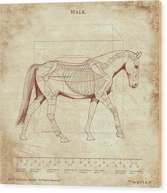 The Horse's Walk Revealed Wood Print