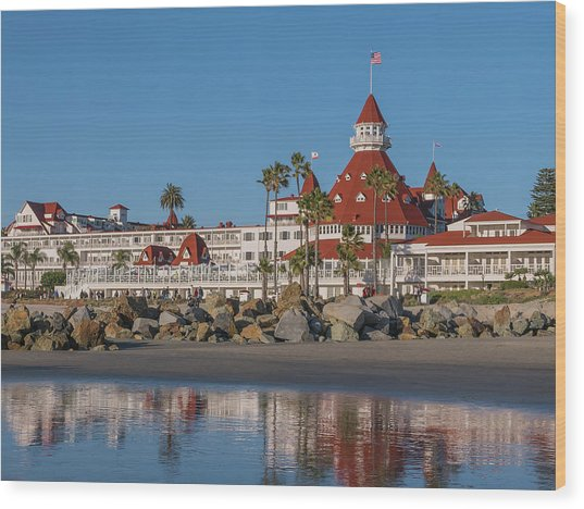 The Hotel Del Coronado Wood Print