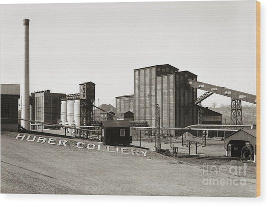 The Huber Colliery Ashley Pennsylvania 1953 Wood Print
