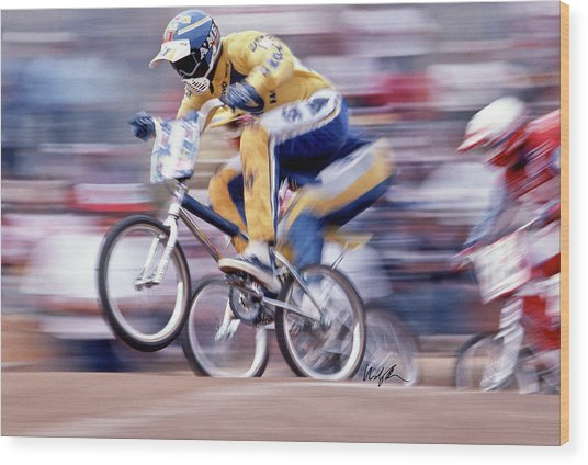 The Human Dragster, Tommy Brackens 1985 Wood Print