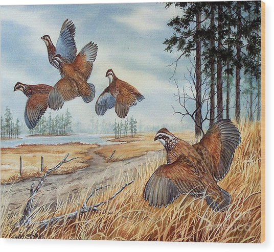 The Hunt  Sold Wood Print