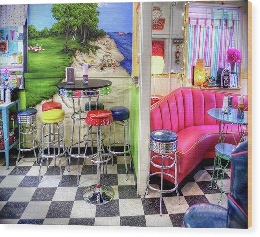 The Ice Cream Shoppe In Duval, Wa Wood Print