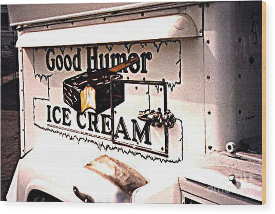 The Ice Cream Truck Is Here Wood Print