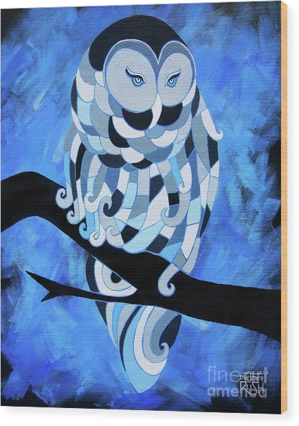 The Ice Owl Wood Print