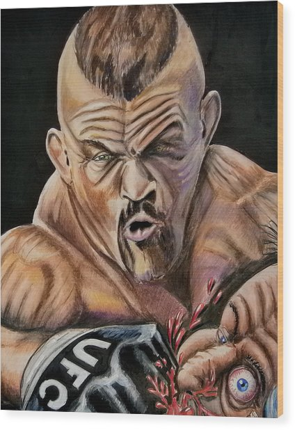 The Iceman Knocks Out A Guys Eye. Wood Print