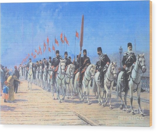 The Imperial Regiment Of The Ertugrul Wood Print