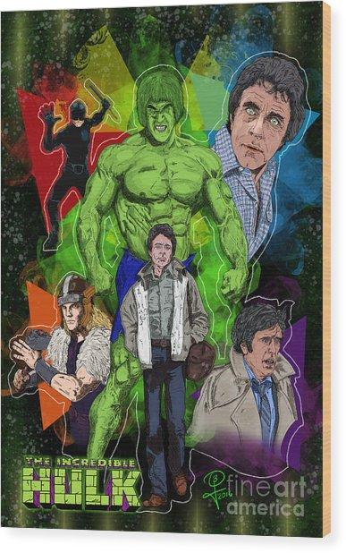 The Incredible Hulk Wood Print by Joseph Burke