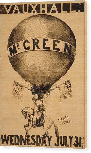 The Incredible Mr. Green Wood Print