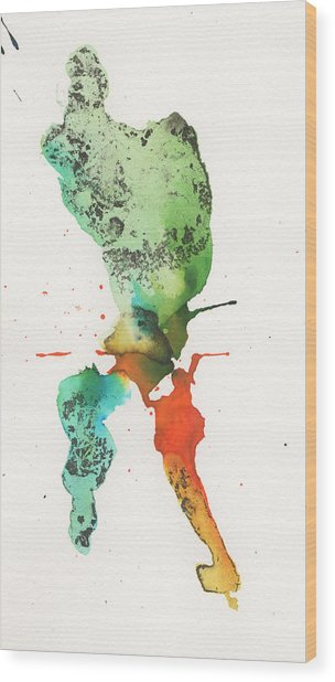 The Inexplicable Ignition Of Time Expanding Into Free Space Phase Two Number 24 Wood Print by Mark M  Mellon