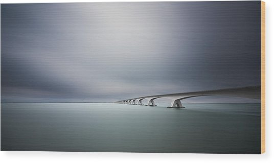 The Infinite Bridge Wood Print by Arthur Van Orden