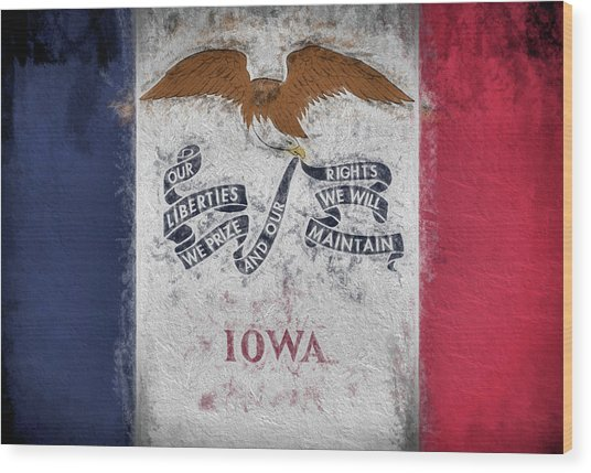 The Iowa Flag Wood Print by JC Findley