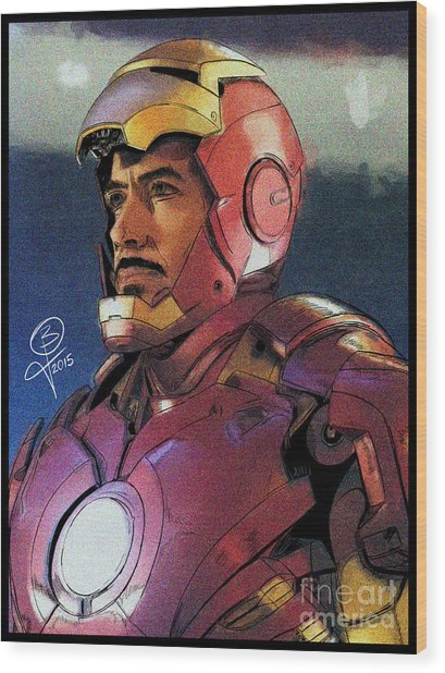 The Iron Avenger Wood Print by Joseph Burke
