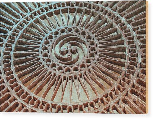The Iron Lattice Wood Print