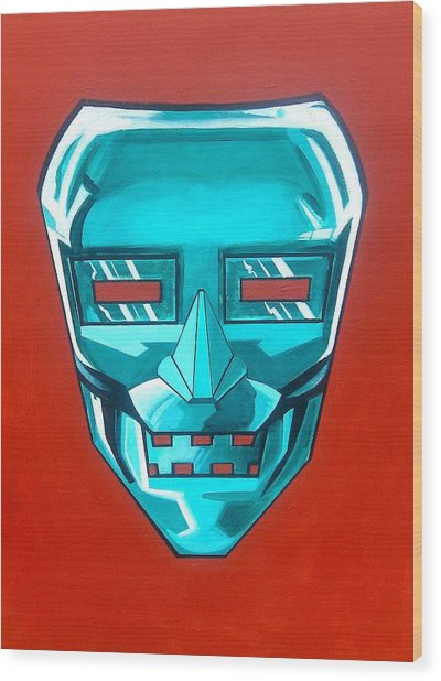 The Iron Mask Wood Print by George Penon Cassallo