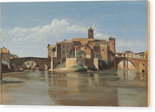 The Island And Bridge Of San Bartolomeo Wood Print