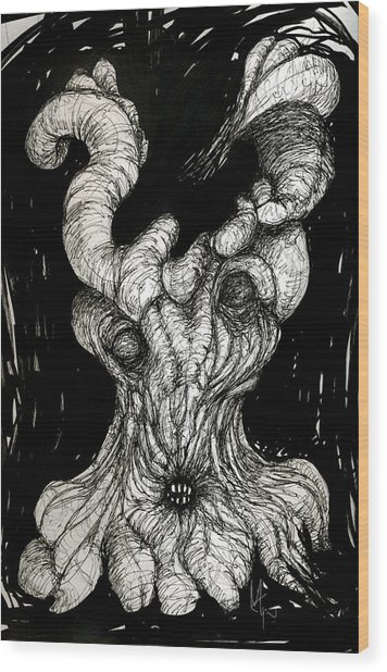 The Itch Wood Print