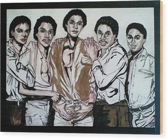 The Jacksons Five  Wood Print