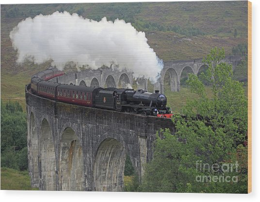 The Jacobite Steam Train Wood Print