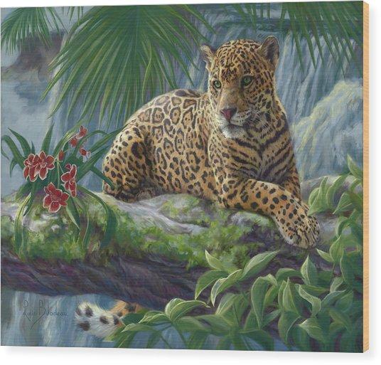 The Jaguar Wood Print