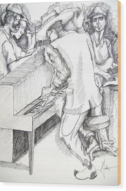 The Jam Wood Print by Gary Galarza
