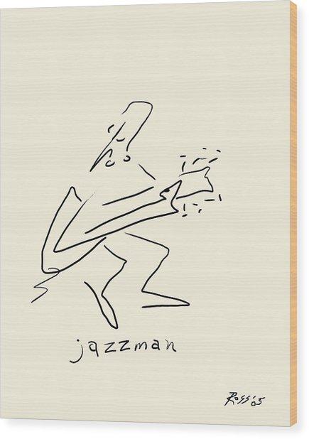 The Jazz Man Wood Print