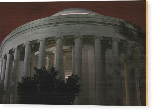 The Jefferson Memorial At Night Wood Print by Brian M Lumley