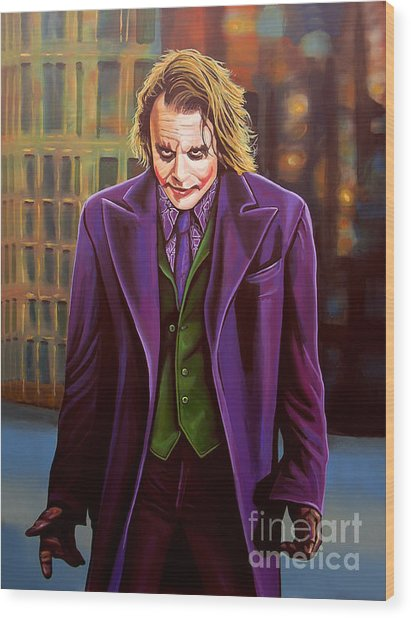 The Joker In Batman  Wood Print