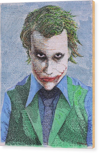 The Joker In His Own Words Wood Print