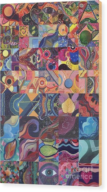 The Joy Of Design First 40 Variation 1 Wood Print