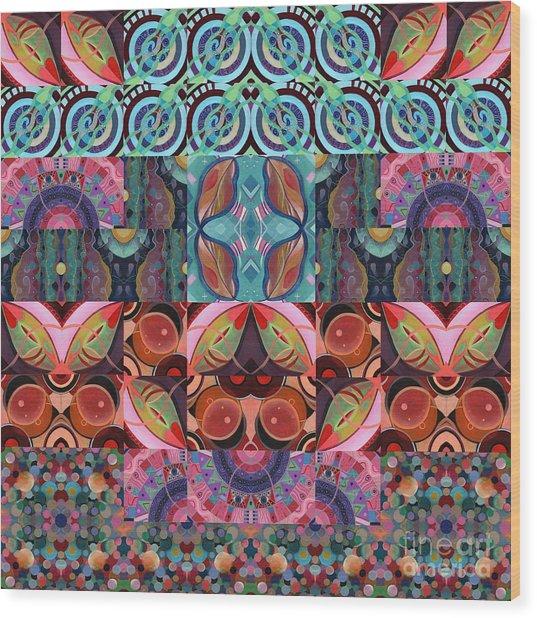The Joy Of Design Mandala Series Puzzle 7 Arrangement 3 Wood Print